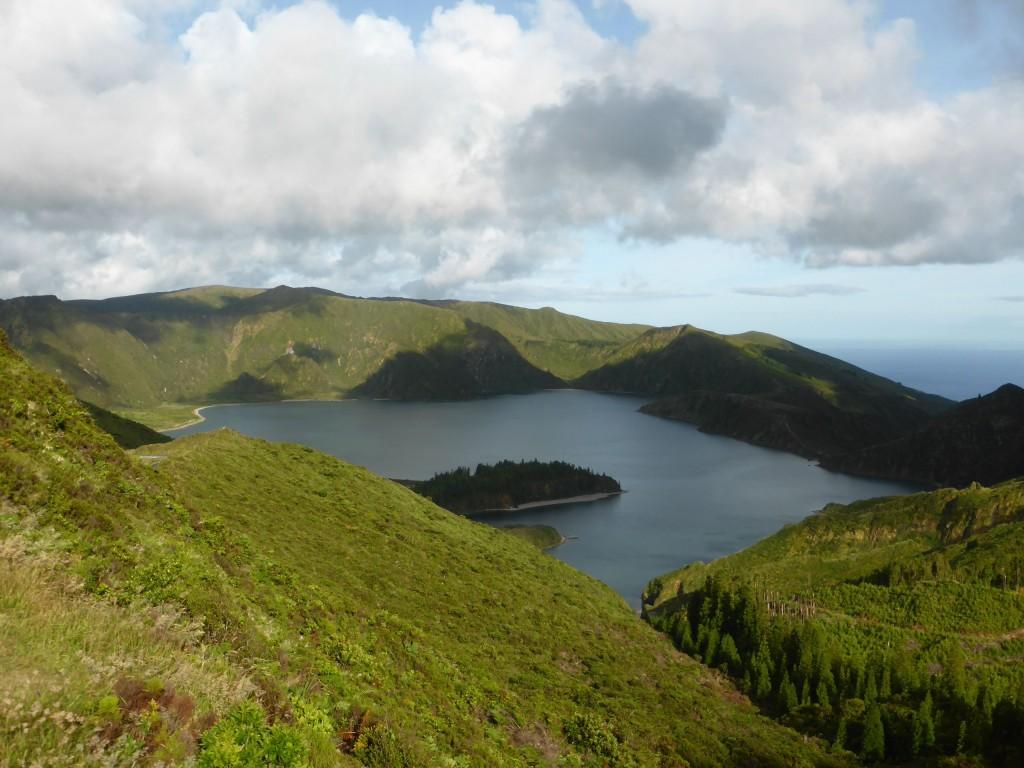 "The spectacular volcanic ""Lagoa do Fogo"" in São Miguel Island, Azores"