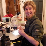 One very happy researcher (he just found the isopod species he had come to look for)