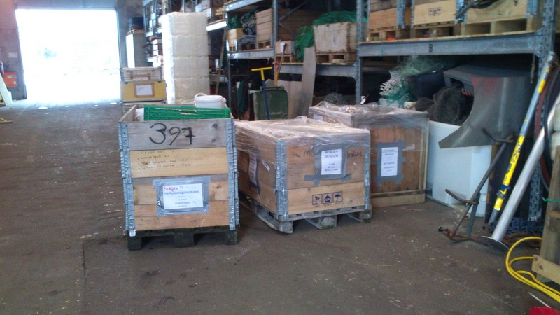 Three (!) pallets of material