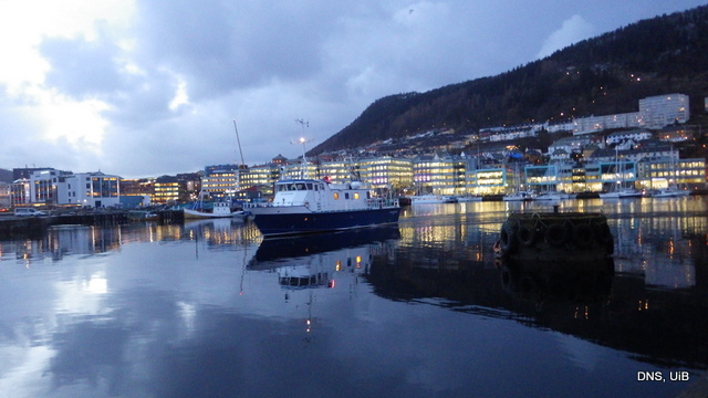 Our ride - R/V Hans Brattstøm - coming to pick us up in the morning