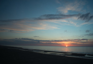Sunset in Oostende. Photo: AHS Tandberg