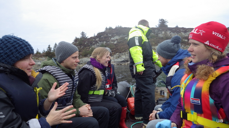 Being ferried across to the island where we'll examine the tide pools