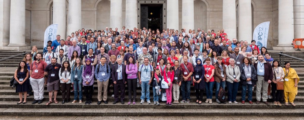 Polychaetologists assembled on the steps of the National Museum Cardiff (c) IPC2016