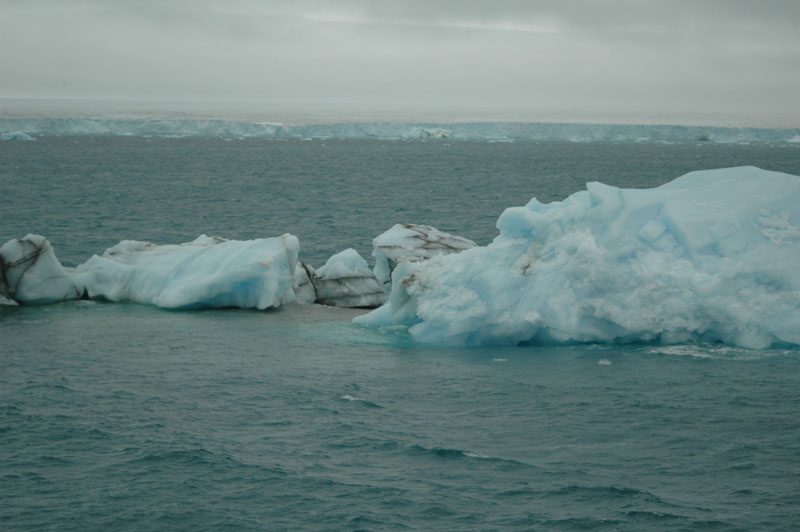 Ice-floats and more permanent ice. Svalbard. Photo: AHS Tandberg
