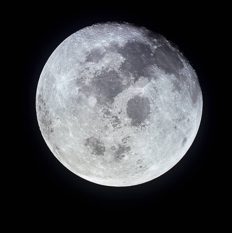 The full moon, photographed by the Apollo 11 crew after their visit. Photo: NASA, 1969