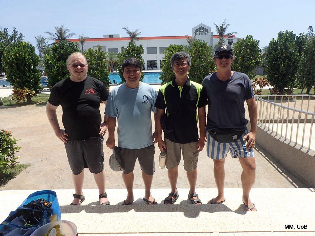 The sampling team-at-Kenting-left-to-right-Trond-Oskars-Wei-Ban-Jie-Chung-Chi-Hwang-Manuel-Malaquias