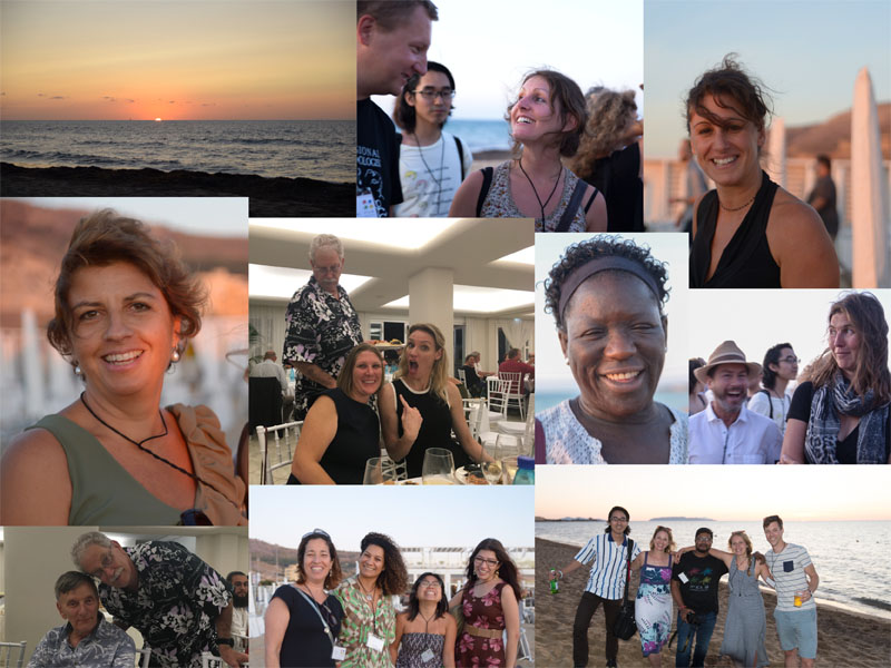 Happy friends meeting in Trapani. (all photos: AH Tandberg)